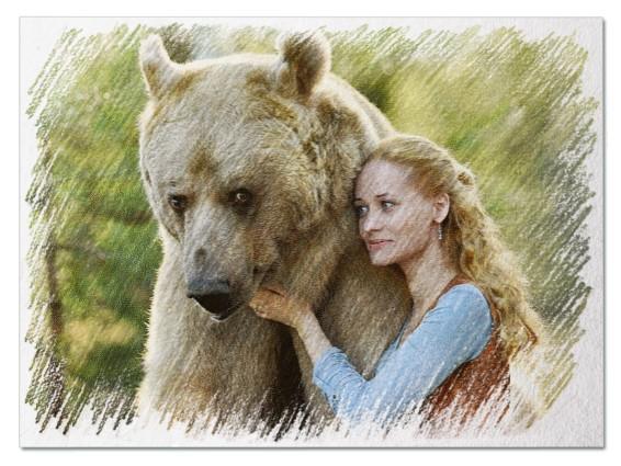 Большой медведь во сне